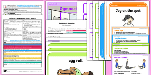 Foundation PE (Reception) - Gymnastics - Jumping Jacks and Rock 'n' Roll Lesson Pack 5: Range of Rolls - EYFS, PE, Physical Development, Planning