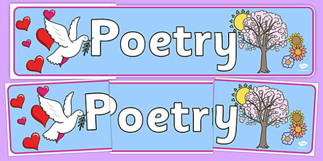 Poetry Display Banner - display banner, display, banner, poetry, poems, poem, literacy, english