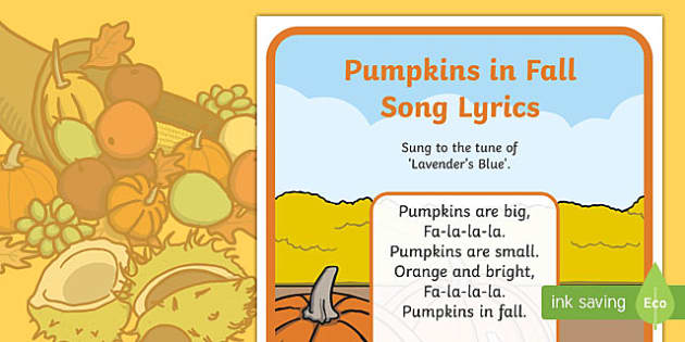 Pumpkins in Fall Song Lyrics