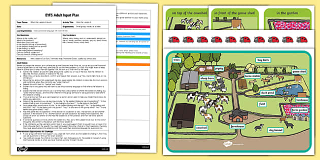EYFS Hide the Ladybird Adult Input Plan and Resource Pack to Support Teaching on What the Ladybird Heard