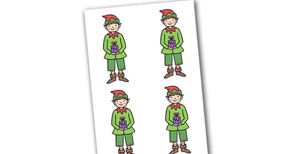 Christmas Boy Elf Small Editable  - christmas, elves, santa, xmas