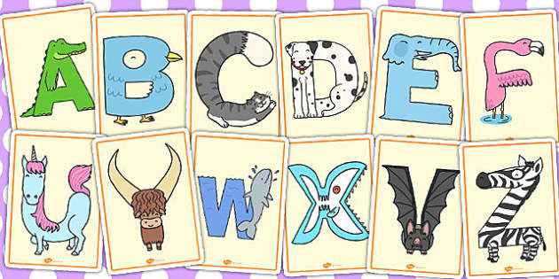 Animal Alphabet Display Posters - animal, alphabet, display, posters
