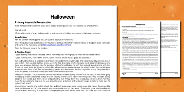 Halloween Assembly - halloween, pumpkin, October, celebration, festival, assembly, assemblies