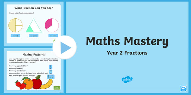 Year 2 Maths Mastery Fractions PowerPoint
