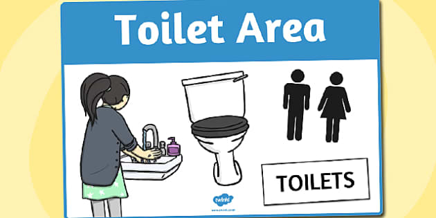 Toilet Area Sign - area, sign, area sign, toilet, toilet area