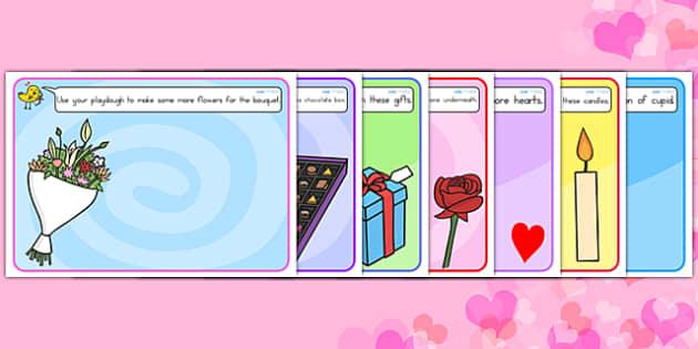 Valentine's Day Playdough Mats - valentines day, motor skills