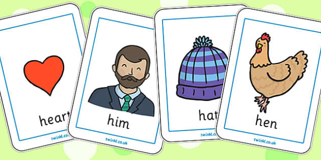 Initial h Sound Playing Cards - initial h, sound, playing cards