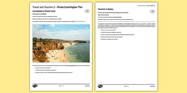 Les voyages & le tourisme 2 Carte photo Higher Tier - french, Travel, tourism, holidays, voyage, tourisme, vacances, photo, picture, card, higher