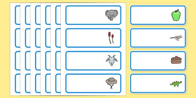 Editable Drawer - Peg - Name Labels (Set 2) - Blue - Classroom Label Templates, Resource Labels, Name Labels, Editable Labels, Drawer Labels, Coat Peg Labels, Peg Label, KS1 Labels, Foundation Labels, Foundation Stage Labels, Teaching Labels, Resourc