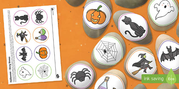Halloween Story Stone Image Cut-Outs