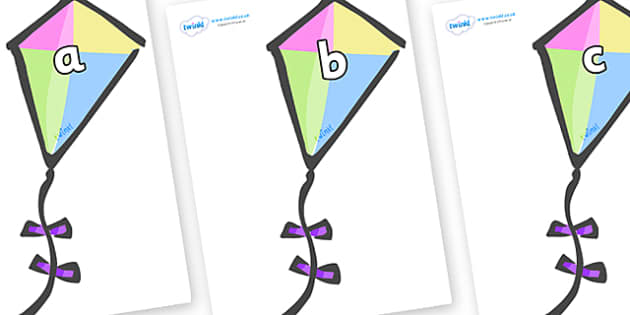 Phase 2 Phonemes on Kites - Phonemes, phoneme, Phase 2, Phase two, Foundation, Literacy, Letters and Sounds, DfES, display