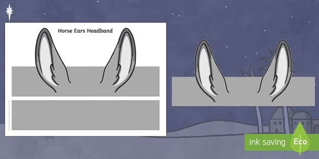 Horse Ears Headband -  horse, animals, role play, ears, cutouts, KS1, EYFS, nativity, xmas, christmas