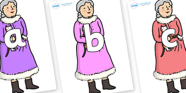 Phoneme Set on Mrs Clause to Support Teaching on The Jolly Christmas Postman - Phoneme set, phonemes, phoneme, Letters and Sounds, DfES, display, Phase 1, Phase 2, Phase 3, Phase 5, Foundation, Literacy
