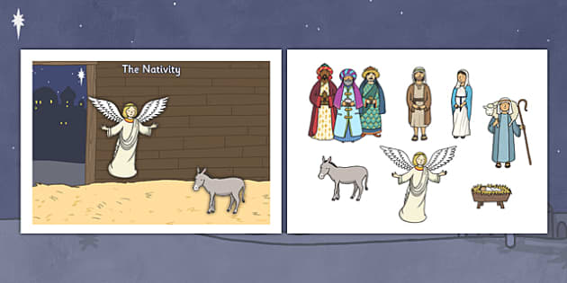 Make Your Own Nativity Scene A4 - nativity, scene, nativity scene, a4, make