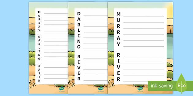 Murray Darling Basin Acrostic Poem - Water in Australia, murray river, darling river, rivers Australia, Australian waterways, murray darl