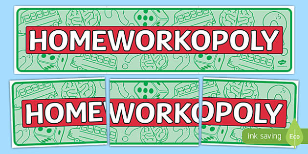 Homeworkopoly Display Banner