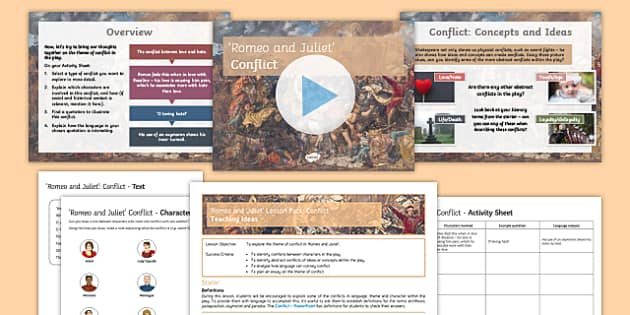 Romeo and Juliet Lesson Pack: Conflict