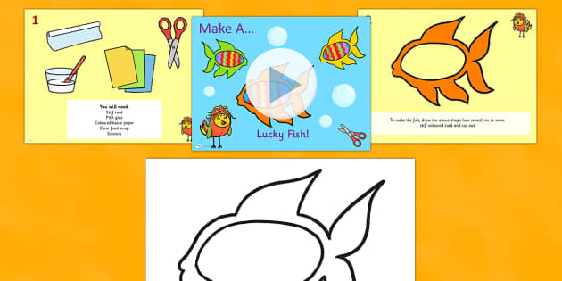 Chinese New Year Make a Lucky Fish Instructions PowerPoint