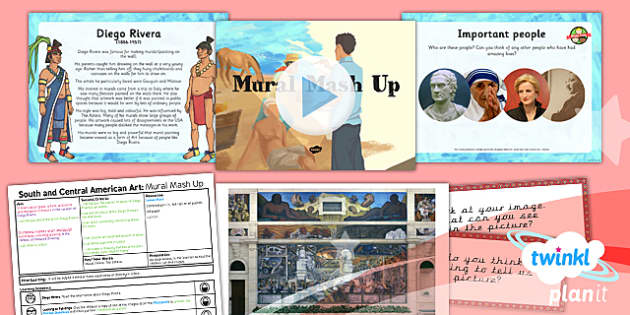 PlanIt - Art UKS2 - South and Central American Art Lesson 4: Mural Mash Up Lesson Pack