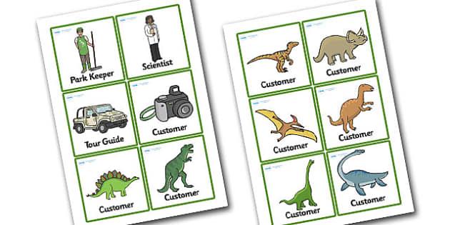 Dinosaur Park Role Play Badges - dinosaur park, dinosaur park role play, dinosaur park role play badges, dinosaur themed badges, role play