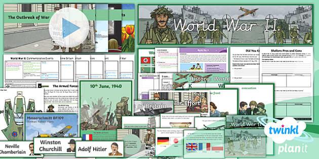 PlanIt History LKS2 World War II Unit Pack - history, world war 2, world war II, second world war, lesson pack, planit, history, outbreak, war, h
