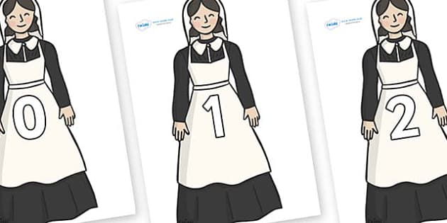 Numbers 0-31 on Florence Nightingale - 0-31, foundation stage numeracy, Number recognition, Number flashcards, counting, number frieze, Display numbers, number posters