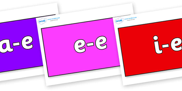 Modifying E Letters on Rectangles - Modifying E, letters, modify, Phase 5, Phase five, alternative spellings for phonemes, DfES letters and Sounds