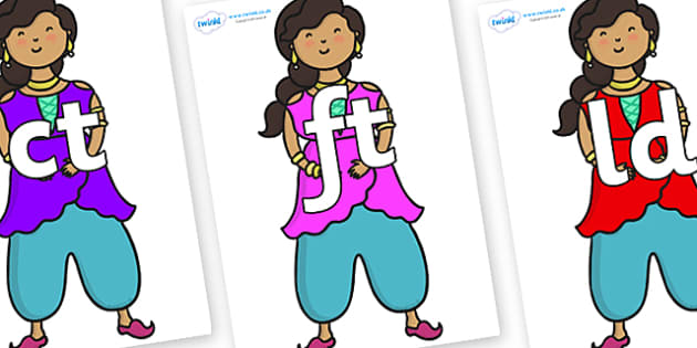 Final Letter Blends on Princess - Final Letters, final letter, letter blend, letter blends, consonant, consonants, digraph, trigraph, literacy, alphabet, letters, foundation stage literacy
