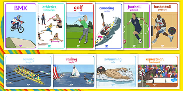 Rio Olympics Sports Posters 2016 Bilingual Resource - Rio Olympics, Display Posters