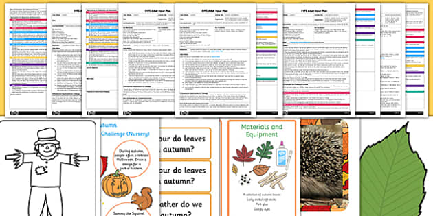EYFS Autumn Themed Adult Input Planning and Resource Pack - early years, plan, resources, information, activities, ideas, kit, leaves, outside, change, nature, plants, colour