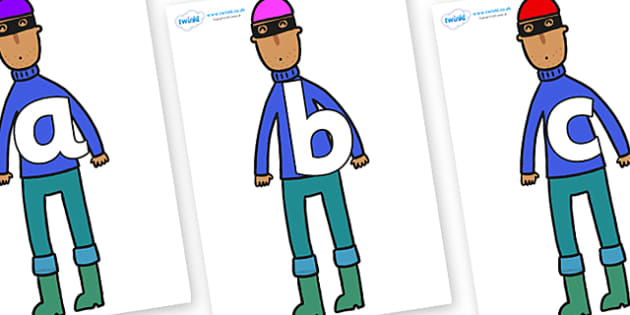 Phoneme Set on Tall Robber to Support Teaching on What the Ladybird Heard - Phoneme set, phonemes, phoneme, Letters and Sounds, DfES, display, Phase 1, Phase 2, Phase 3, Phase 5, Foundation, Literacy