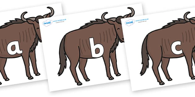 Phase 2 Phonemes on Wildebeests - Phonemes, phoneme, Phase 2, Phase two, Foundation, Literacy, Letters and Sounds, DfES, display