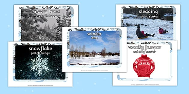 Winter Display Photo Cut Outs Polish Translation - polish, display, photo, cut out