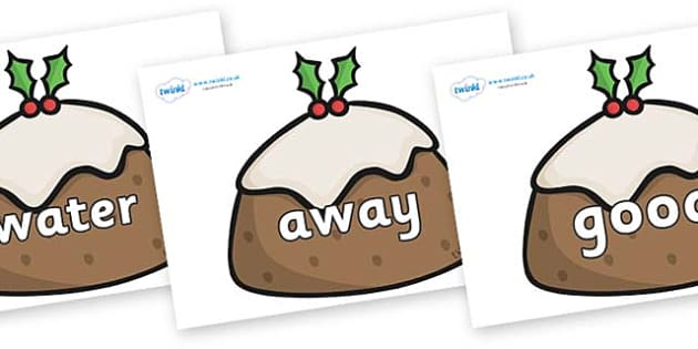 Next 200 Common Words on Christmas Puddings - Next 200 Common Words on  - DfES Letters and Sounds, Letters and Sounds, Letters and sounds words, Common words, 200 common words