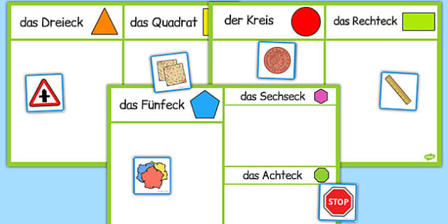 2D Shape Sorting Activity German - german, 2d shape, sorting, activity, sort, 2d, shape