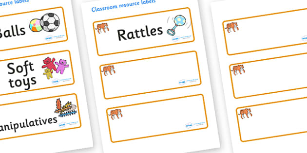 Tiger Themed Editable Additional Resource Labels - Themed Label template, Resource Label, Name Labels, Editable Labels, Drawer Labels, KS1 Labels, Foundation Labels, Foundation Stage Labels, Teaching Labels, Resource Labels, Tray Labels, Printable la