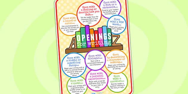 Opener Idea Poster - openers, opener idea, posters, display