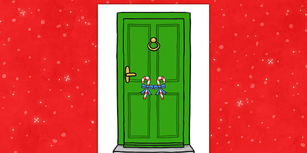 Elf Door - elf door, elf, door, christmas, display, doorway, doorframe