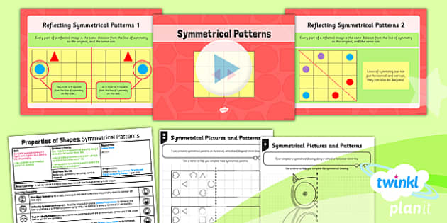 PlanIt Y4 Properties of Shapes Lesson Pack Symmetrical Patterns - Properties of Shapes, symmetry, symmetrical patterns, planning
