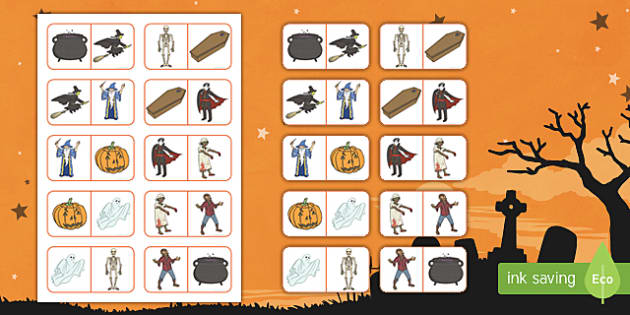 Halloween Themed Picture Dominoes