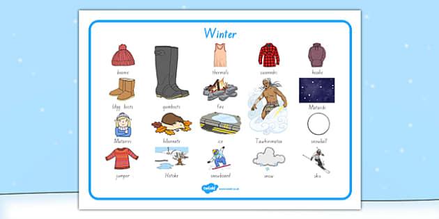 New Zealand Winter Word Mat