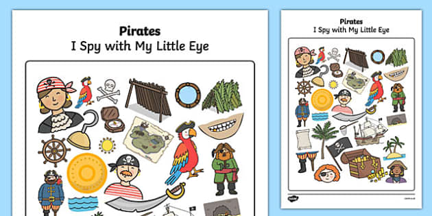 Pirate Themed I Spy With My Little Eye Activity - I spy, pirate