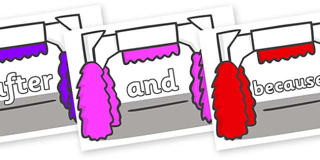 Connectives on Car Wash - Connectives, VCOP, connective resources, connectives display words, connective displays