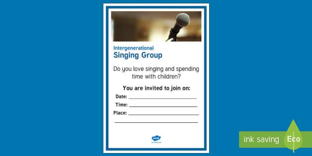 Intergenerational Singing A4 Display Poster  - Singing, Intergenerational, Tips, Elders, Children, Activity Co-ordinators, Care Homes, Elderly Care