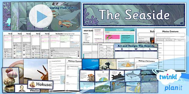 PlanIt - Art UKS2 - The Seaside Unit Pack - planit, art, unit