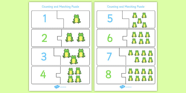 Five Little Frogs Counting Puzzle - Five, Little, Frogs, Puzzle