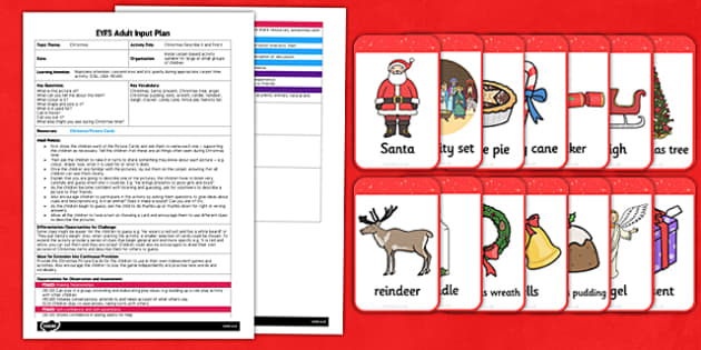 Christmas Describe It and Find It EYFS Adult Input Plan and Resource Pack - christmas, describe it, find it