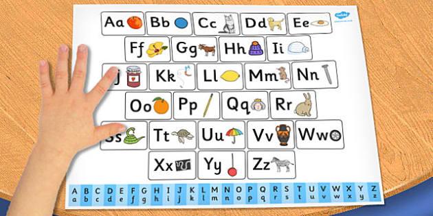 Alphabet Prompt Mat - letter, letters, prompts, mats, visual aids