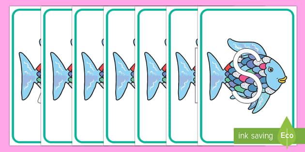 El pez arcoiris tarjetas de fonemas