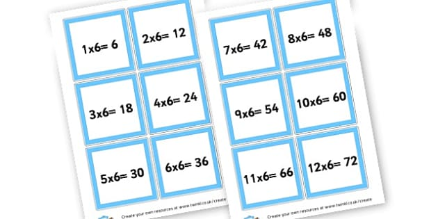 Maths Times Tables Cards - Times Tables Primary Resources, multiply, times, number of, games, Times, Table, Tabe